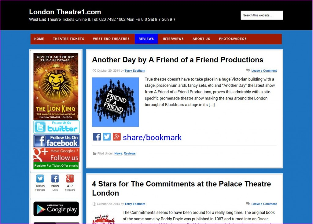 London Theatre 1 ANOTHER DAY review