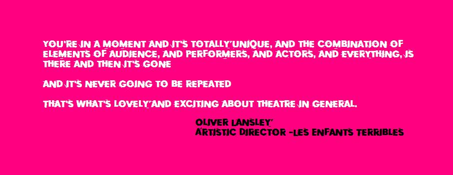 BLOG news Oliver Lansley - Les Enfants Terribles - Arts quote